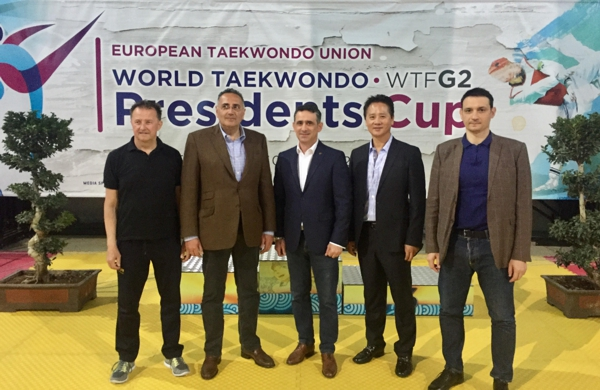 ETU President and ETU Secretary General welcome the Taekwondo family in Athens, Greece for the 2nd WTF President's Cup 2017