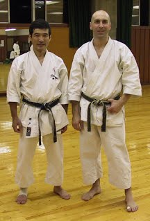 Sensei Seto and Jason Armstrong in 2002