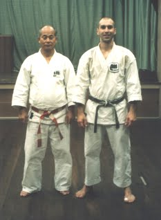 Sotokawa Sensei and Jason Armstrong in 1997
