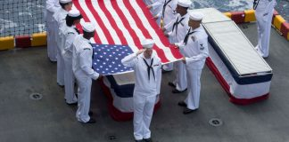 Military Burial at Sea