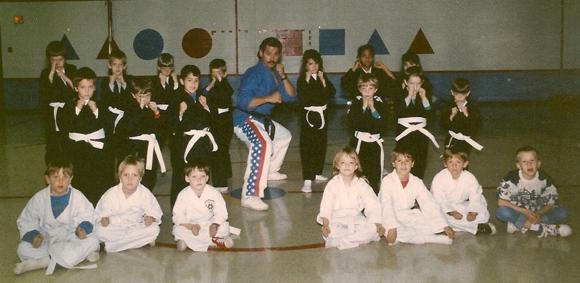 Sensei Chuck Cadell kid's Shorin ryu class