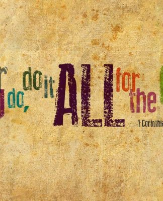 Do All For the Glory of God