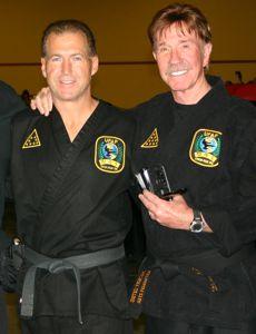 Reggie Cochran and Chuck Norris