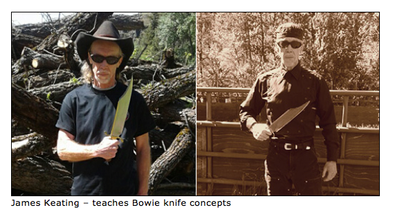 James Keating teaches Bowie knife concepts.