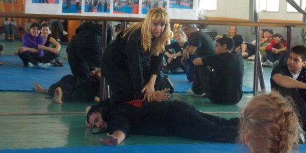 Isa Tenchio Teaching Martial Arts