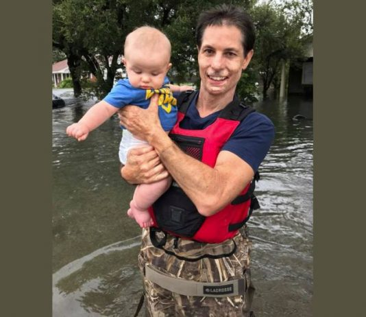 Jamie Cashion Rescues baby after Hurricane Harvey