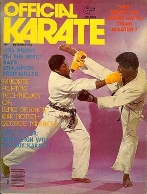 Fred Miller cover of Official Karate Magazine