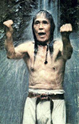 Gogen Yamaguchi Sensei doing Kata