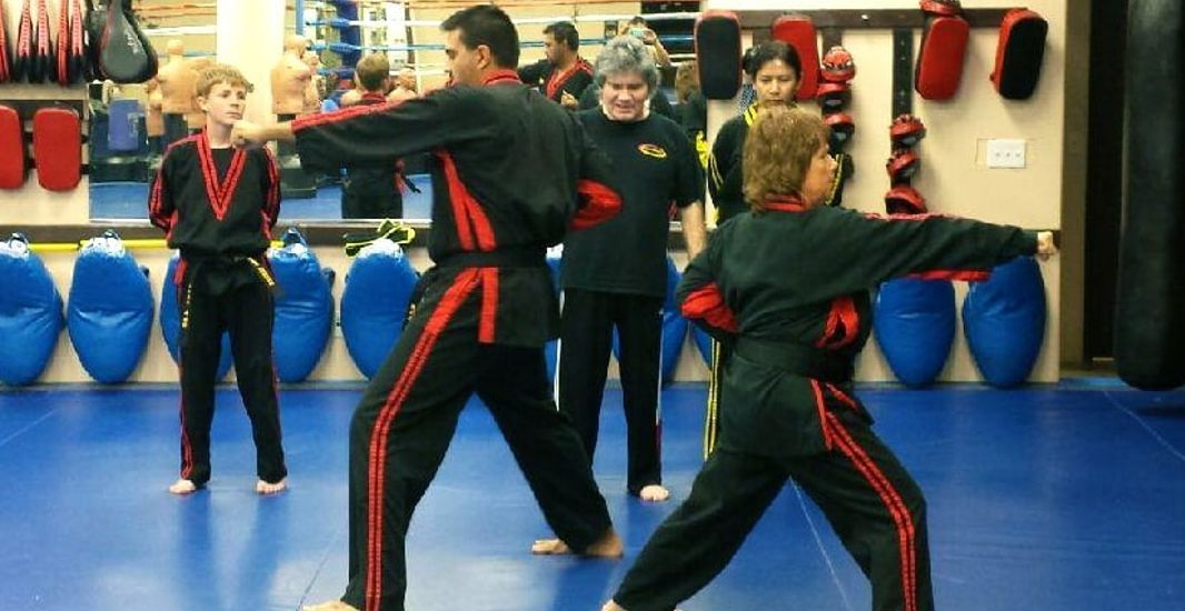 Bob Chaney Teaching Martial Arts