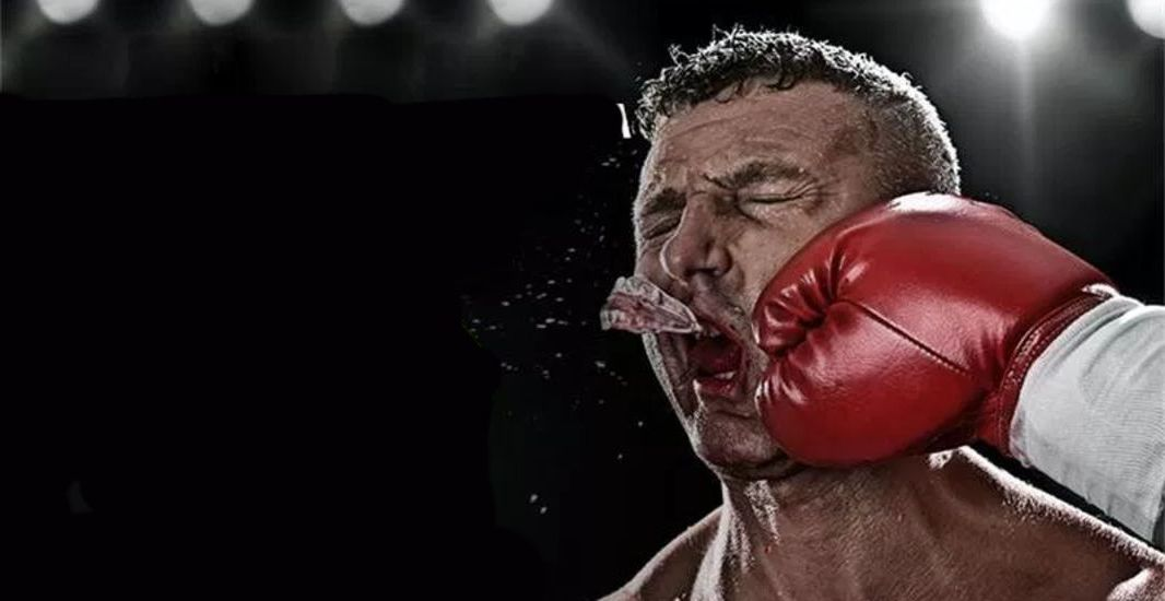 Punch forces out Mouthguard