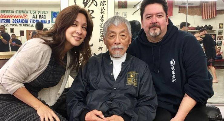 Taky and Andrew Kimura with Shannon Lee