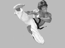 Joe Lewis Flying Sidekick