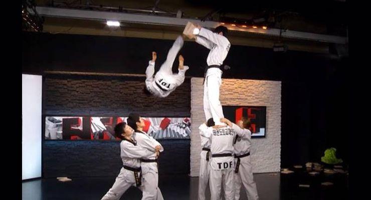 Jump Kick Martial Arts Demoonstration