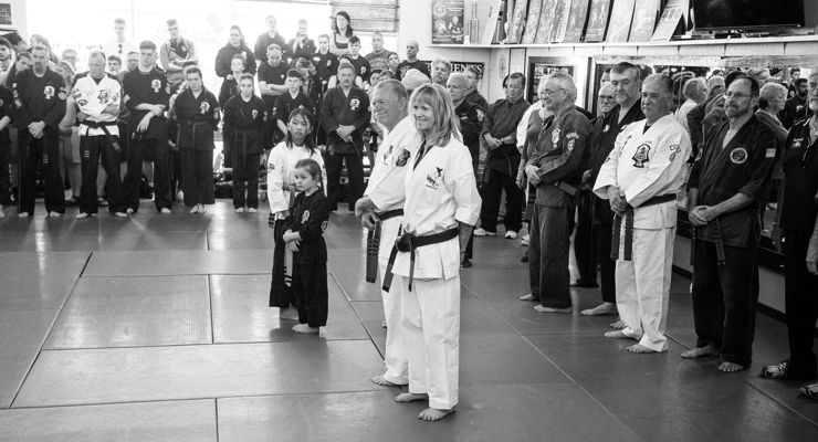 Bob and Barbara at Bob White's Promotion to 10 Degree Black Belt.