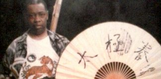 Taijiquan Memories: Alan Sims with his fan