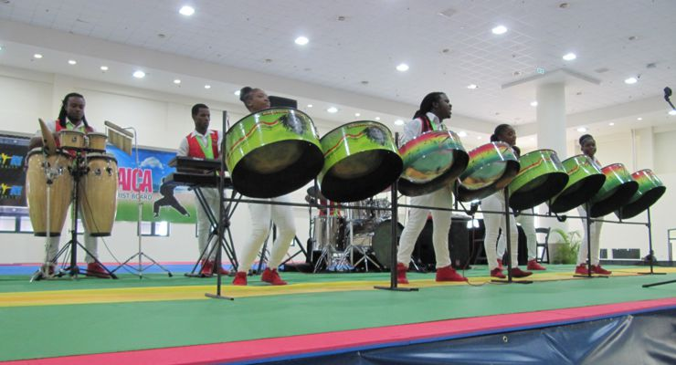Steel Drum Performers at the 2018 ISKA Amateur World Championship Jamaica