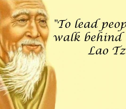 To lead people, walk behind them. Lao Tzu