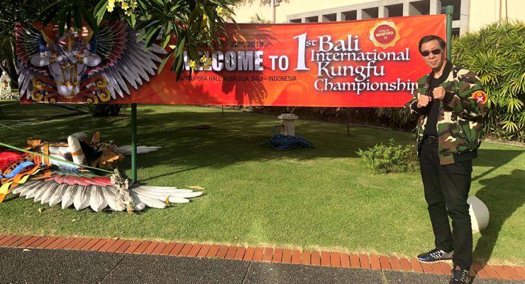 Grandmaster Samuel Kwok attending the 1st Bali International Kungfu Championships 2018