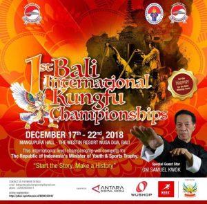 1st Bali International Kungfu Championships 2018 Poster