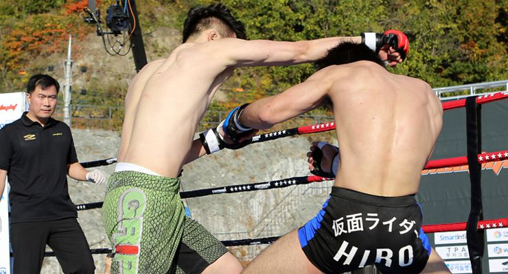 Korean fighter Park Sang-Hyun and Japanese fighter Oh Su-Hwan in NeoFight 14