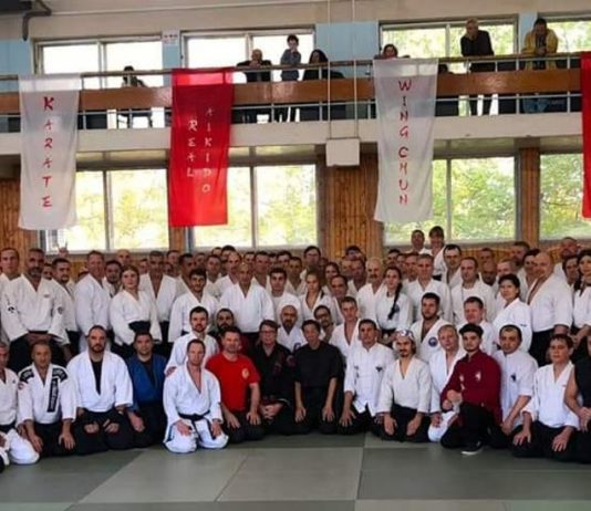GM Seagal and GM Kwok teach aikido and wing chun seminar in Russia in 2018