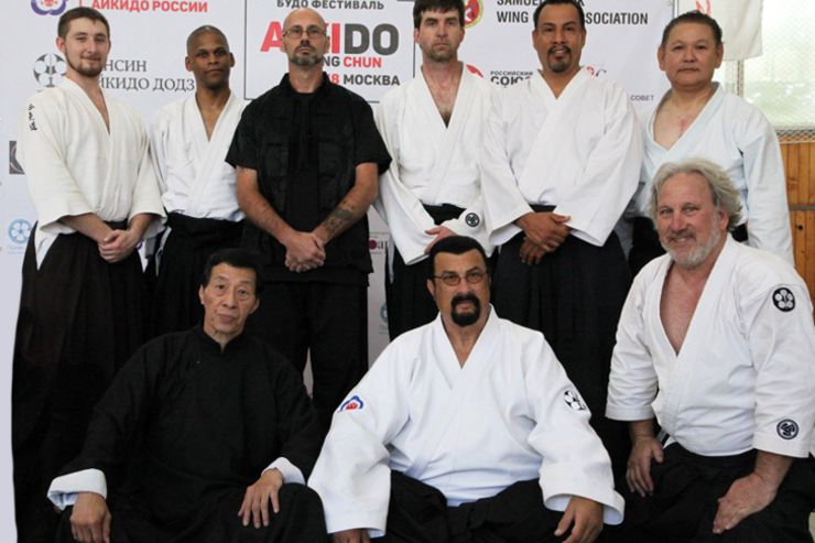 Steven Seagal & Samuel Kwok Instructor Group Photo from Seminar in Russia 2018
