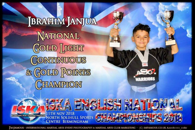 Ibrahim Janjua Light Continuous and Point Sparring National Champion