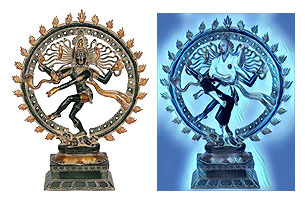 Nataraja (left), is the Indian Hindu deity of Martial Arts and Forms.