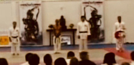 Exhibition of Sanchin kata