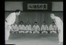 "75 year old ""God of Judo"" Kyuzo Mifune challenging students."