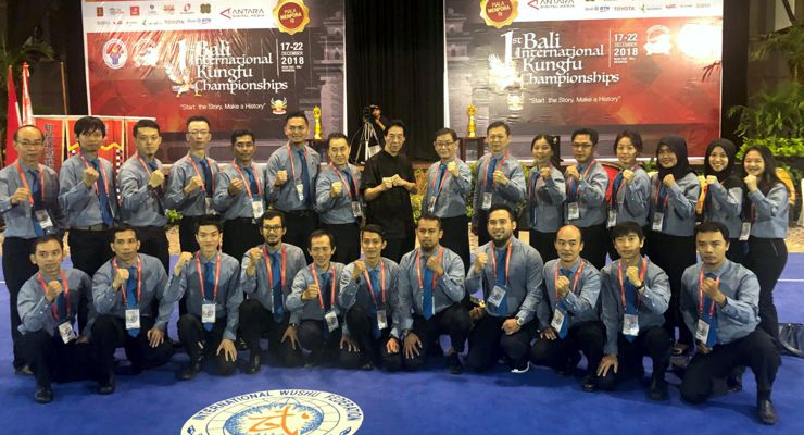 GM Samuel Kwok at the 1st Bali International Kungfu Championships.