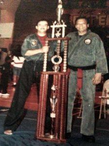Ron Esteller with Trophy