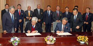 Taekwondo Governing Bodies Signing Agreement