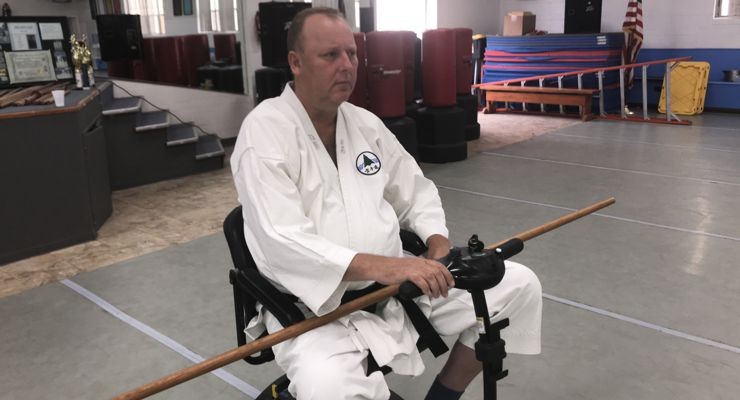 Martial Arts instructor Peters Grootenhuis teaching.