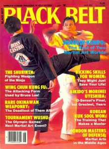 Ralph Castro on the cover of Black Belt magazine in 1984.