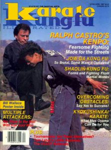 Ralph Castro on the cover of Karate Kung-fu Illustrated in 1987