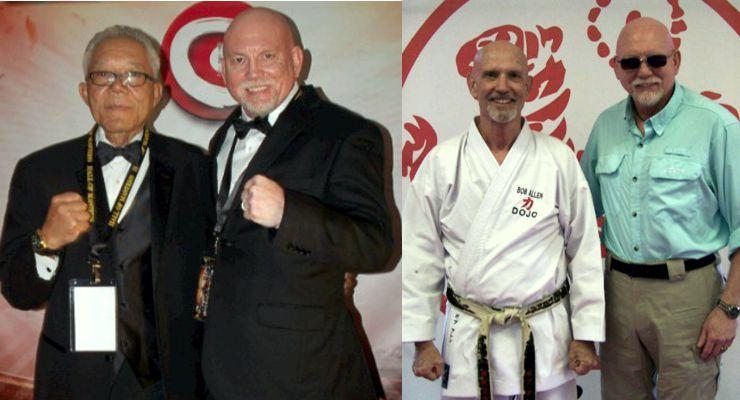 Photo 1: Harry Greene and Bohdi Sanders, Photo 2 Bob Allen and Bohdi Sanders.