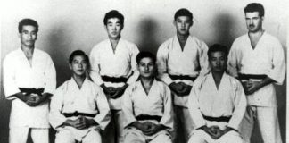 William Chow, Paul Yamaguchi, Harry Pang and Woodrow McCandle, Thomas Young, James M. Mitose and Paul Pung