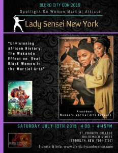 Lady Sensei Chisom Gerry at BLERD City Coon 2019 Poster